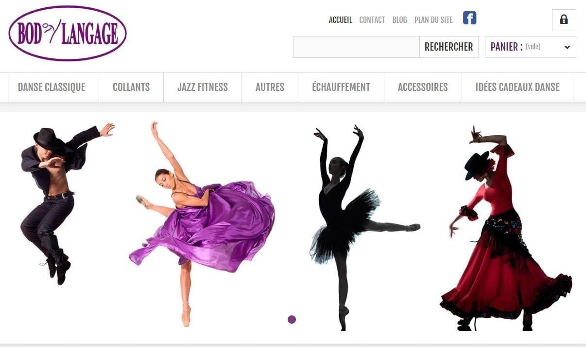 Page d'accueil du site Body Langage