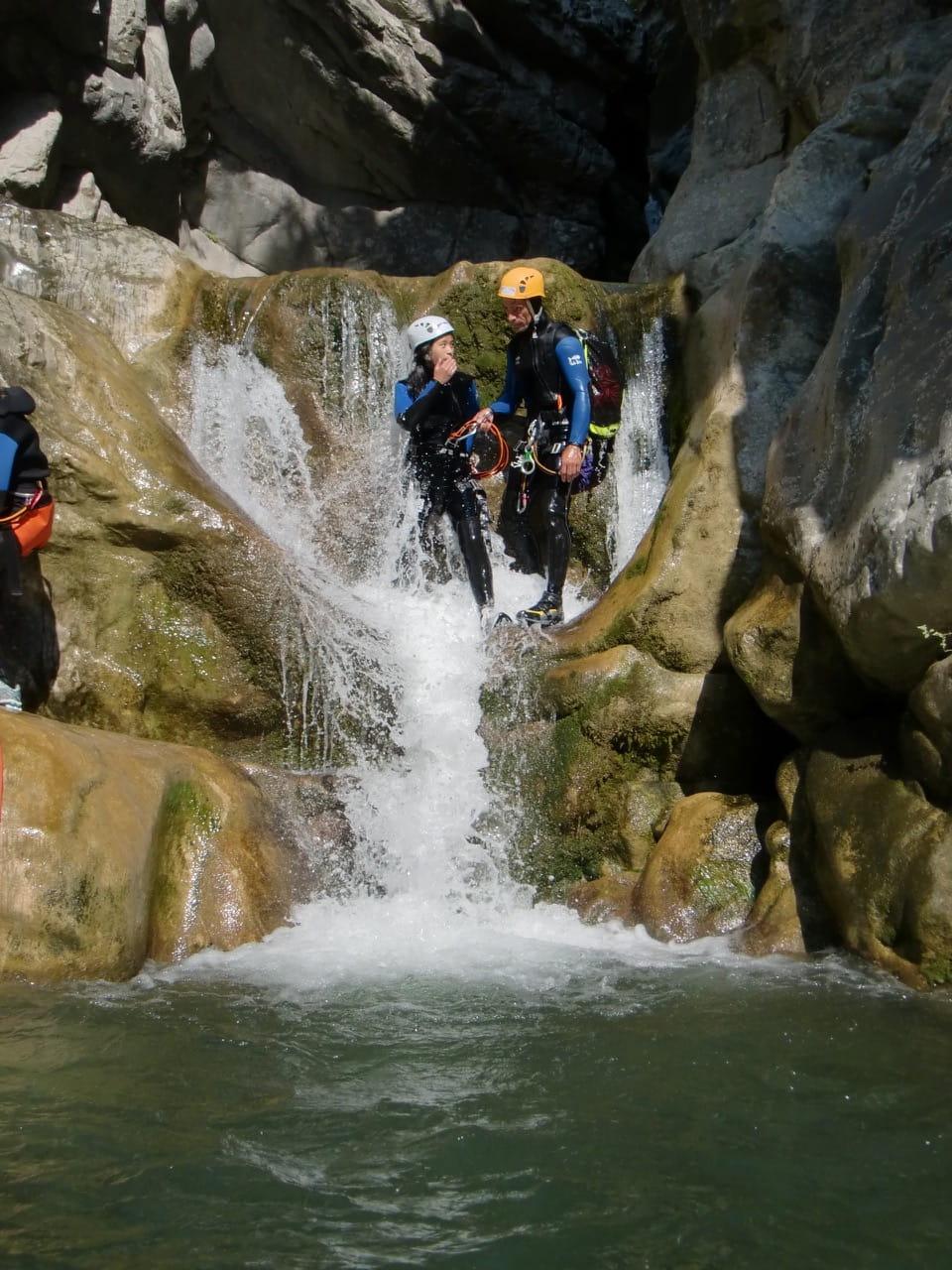 Participants au canyoning de Cramassouri.
