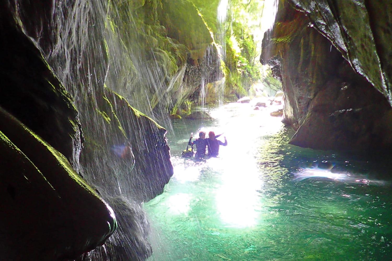 Parcours de canyoning
