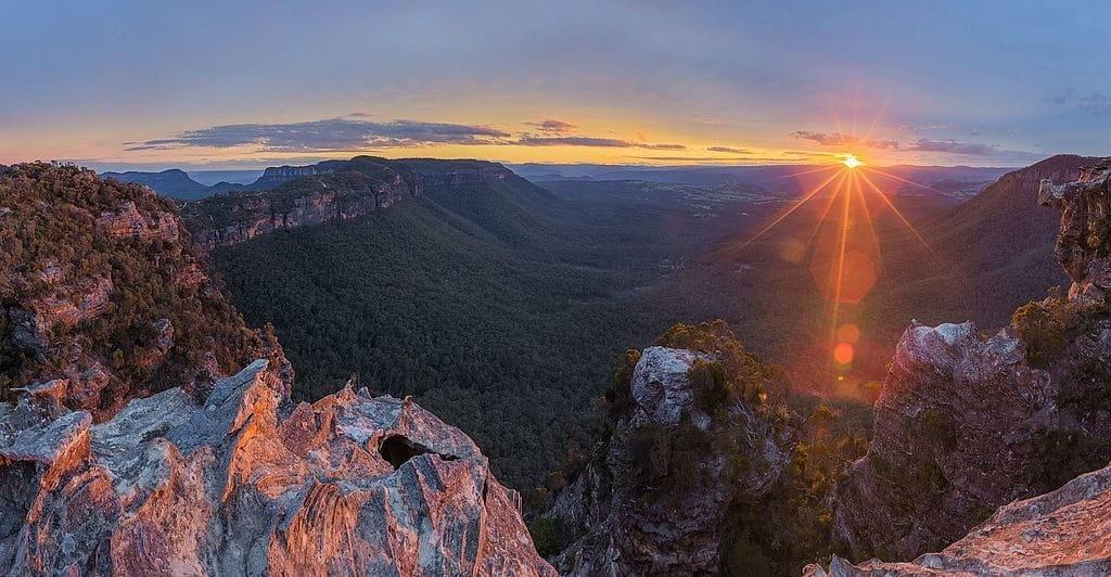 Vue sur les Blue Mountains en Australie.
