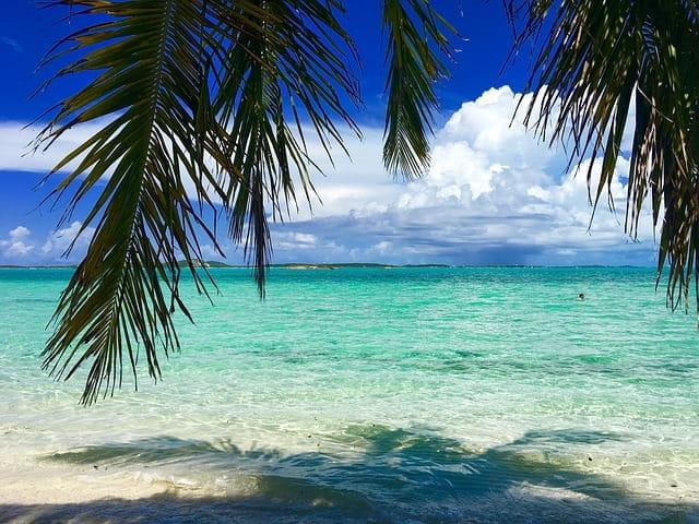 Vue d'une plage paradisiaque.