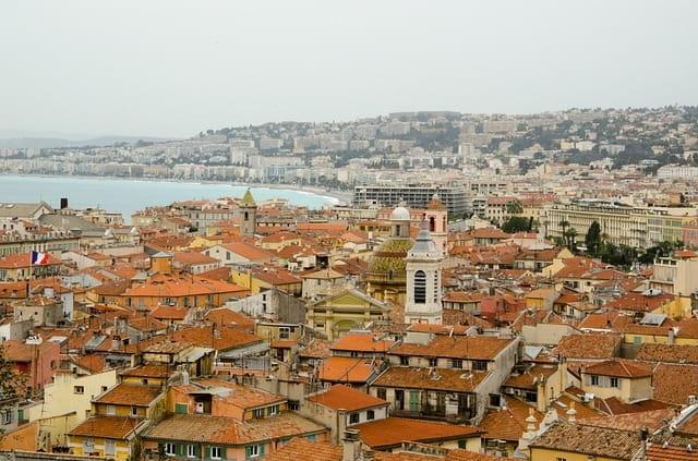 Vue des toits de Nice.
