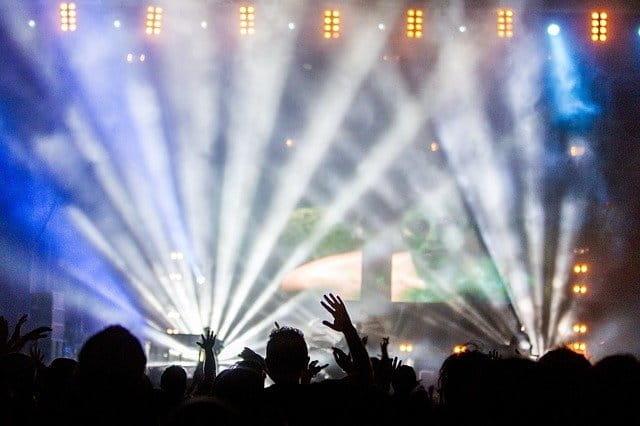 Concert depuis la foule