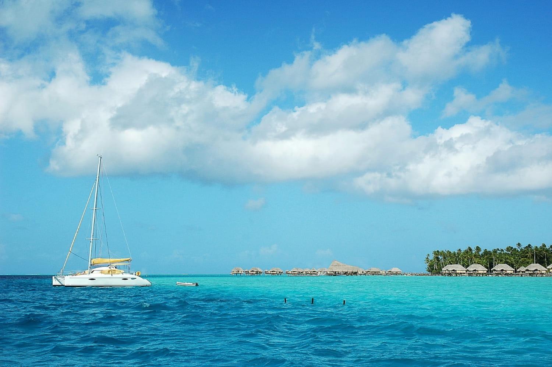 Vue de la mer en Polynésie