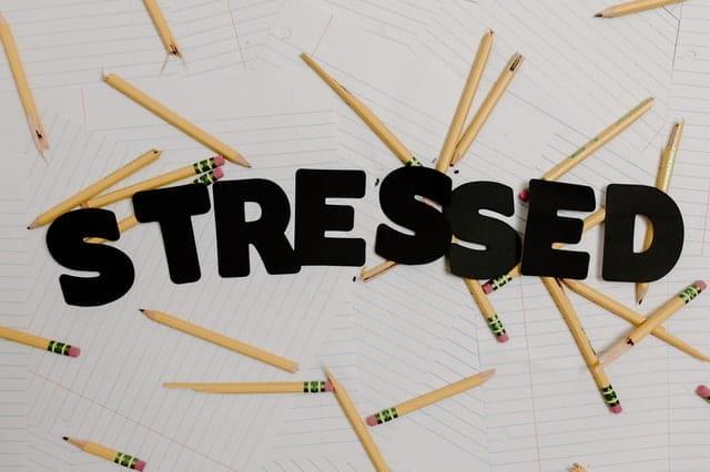 Montage photo sur le stress.
